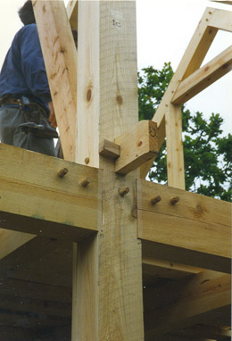 timber frame detalj